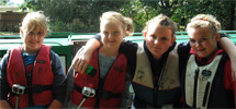 Guides on a narrowboat trip